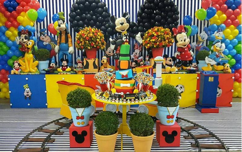 Créditos: @fabulasfestasinfantis Festa Mickey Mouse