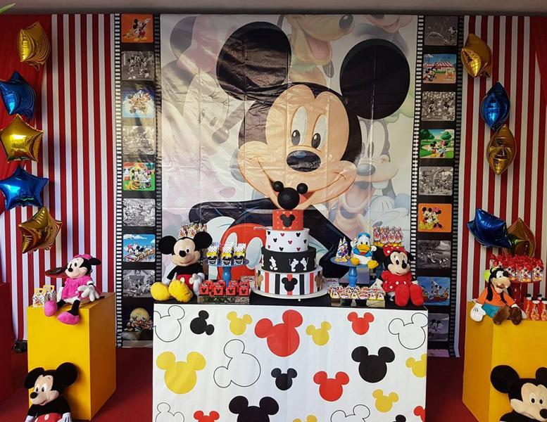 Créditos: @festasarcobaleno Festa Mickey Mouse