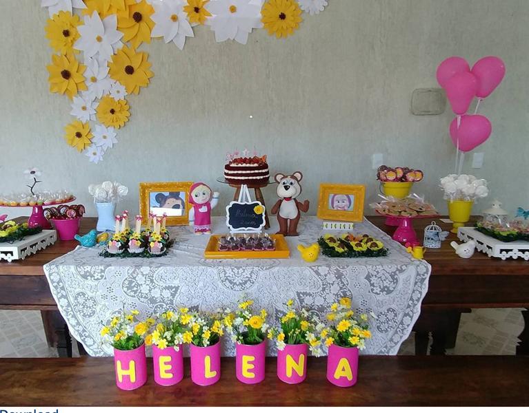 Créditos: @gestoartistico magdaalmeida22 Ideias para Festa Infantil Masha e o Urso