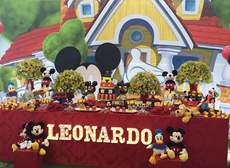 Créditos: @glauciavidalealessandramoraes Festa Mickey Mouse