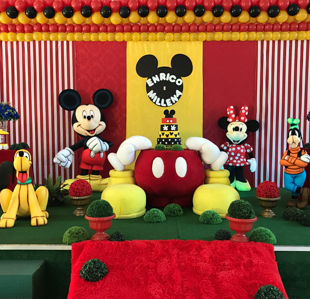 Créditos: @helloparkfestas Festa Mickey Mouse