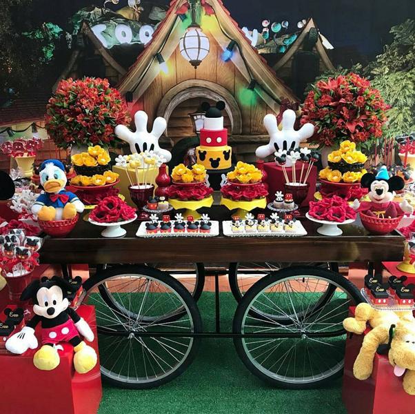 Créditos: @kellykhawam Festa Mickey Mouse