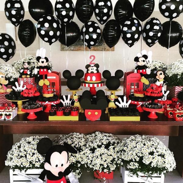 Créditos: @maison_lapparato Festa Mickey Mouse