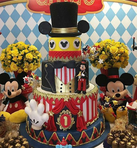 Créditos: @ritalandeirocake Festa Mickey Mouse