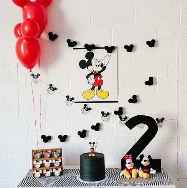 Créditos: @studiocamomillas Festa Mickey Mouse