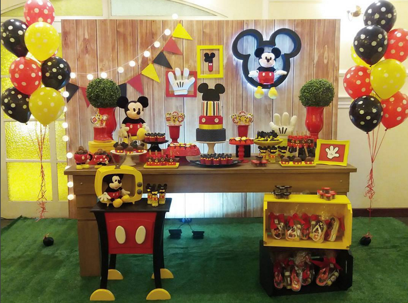 Festa do mickey amarelo