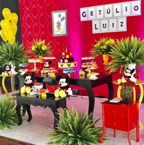 Créditos: @vir_tramontini Festa Mickey Mouse