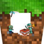 Balde de Pipoca Minecraft