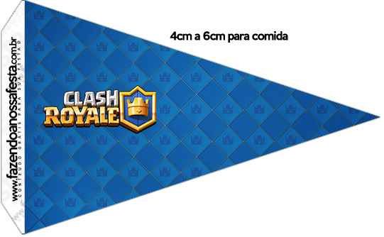 Bandeirinha Sanduiche 1 Clash Royale Kit Festa