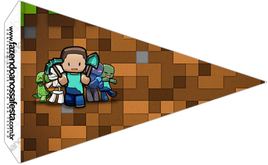 Bandeirinha Sanduiche 2 Minecraft