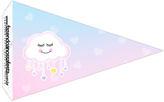 Bandeirinha Sanduiche 3 Chuva de Amor