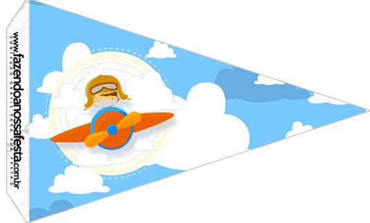 Bandeirinha Sanduiche 4 Menino Aviador