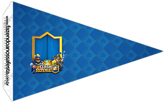 Bandeirinha Sanduiche 5 Clash Royale Kit Festa
