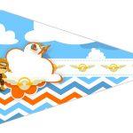 Bandeirinha Sanduiche 5 Menino Aviador