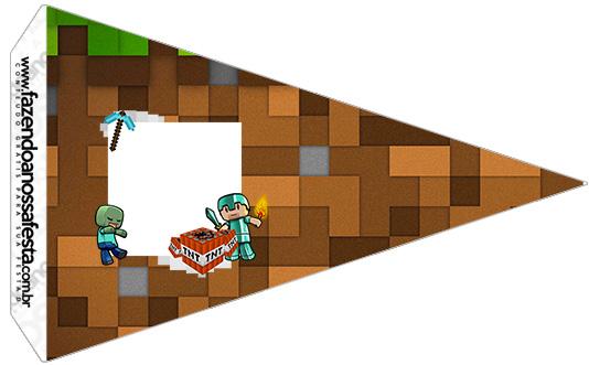 Bandeirinha Sanduiche 5 Minecraft