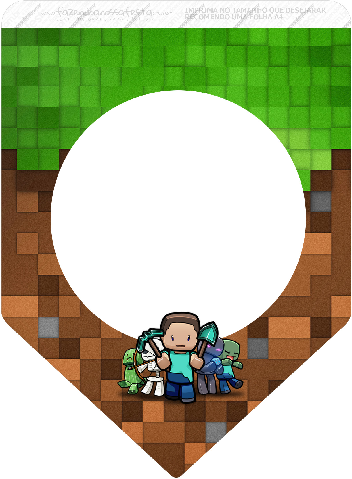 Bandeirinha Varalzinho 3 Minecraft