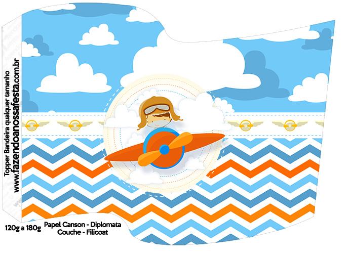 Bandeirinha Varalzinho Menino Aviador