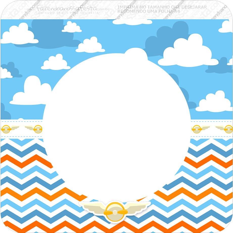 Bandeirinha Varalzinho Quadrada Menino Aviador