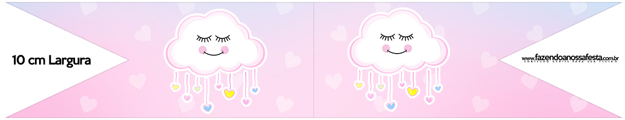 Bandeirinha para Sanduiche Chuva de Amor