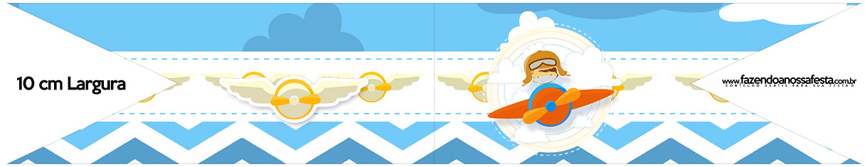 Bandeirinha para Sanduiche Menino Aviador