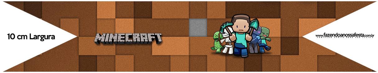 Bandeirinha para Sanduiche Minecraft