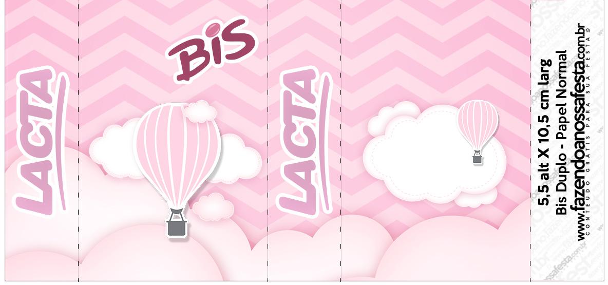 Bis Duplo Balão de Ar Quente Rosa Kit Festa