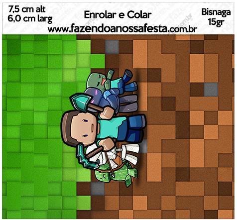 Bisnaga Brigadeiro 15gr Minecraft