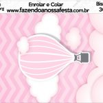 Bisnaga Brigadeiro 30gr Balão de Ar Quente Rosa