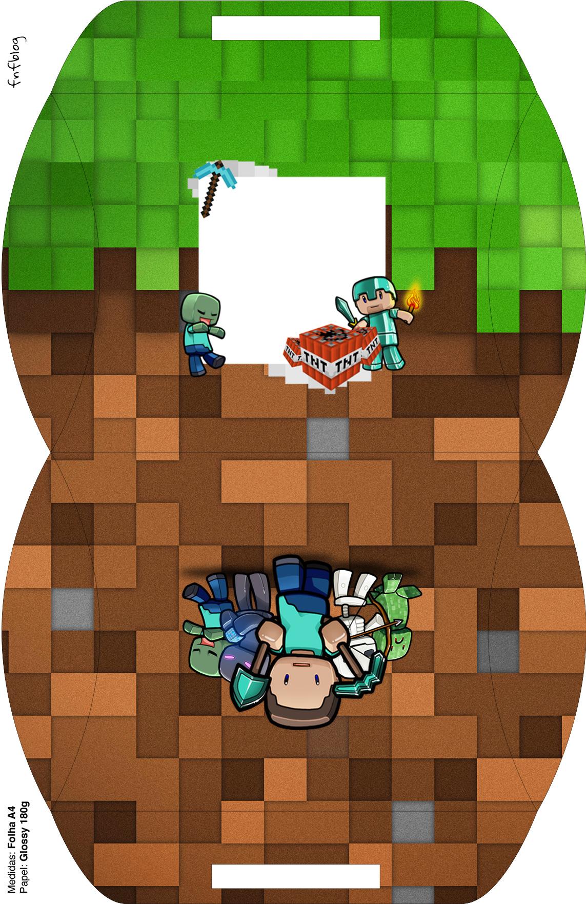 Bolsinha para lembrancinha Minecraft