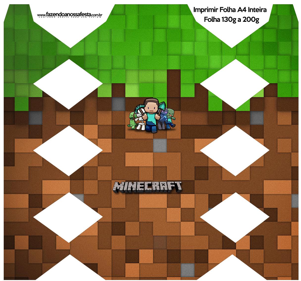 Caixa Bala Minecraft