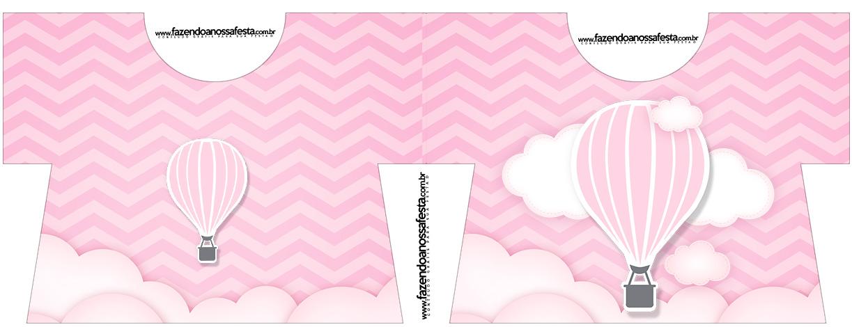 Caixa Camisa Balão de Ar Quente Rosa