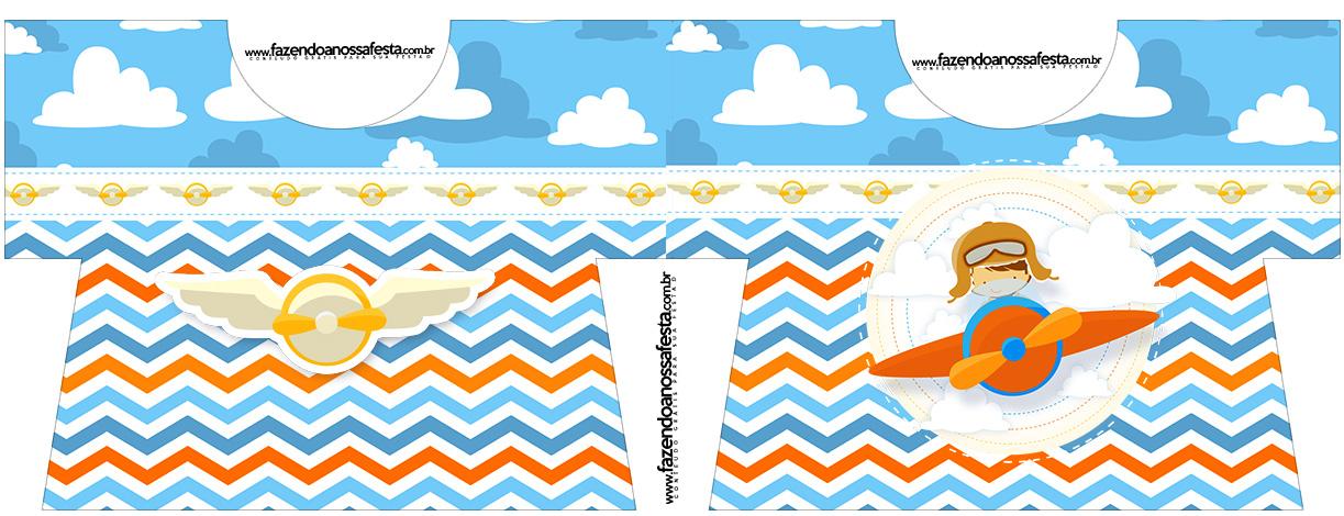 Caixa Camisa Menino Aviador Kit Festa