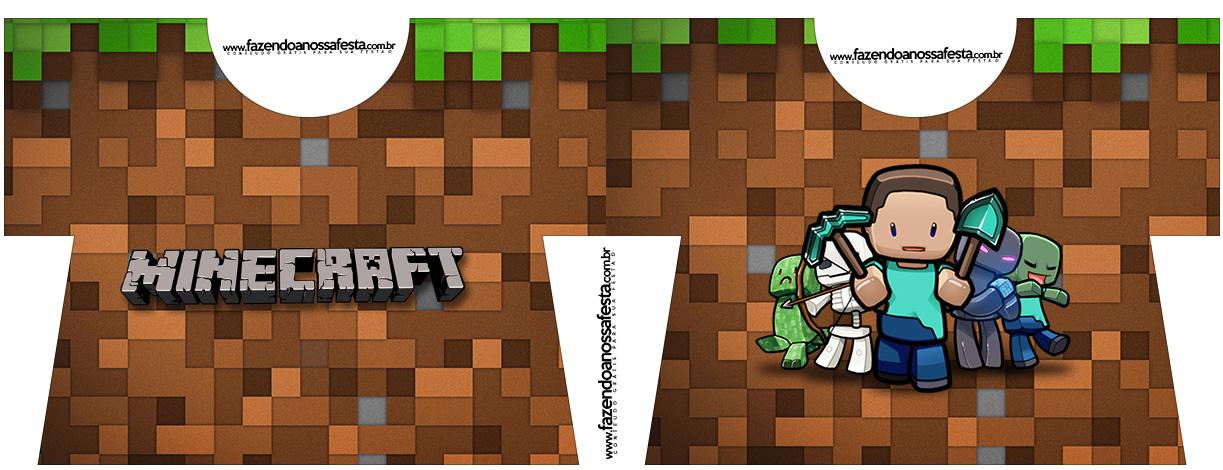 Caixa Camisa Minecraft Kit Festa