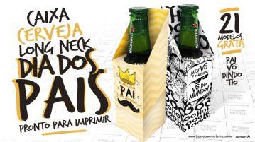 Caixa Cerveja Long Neck para Dia dos Pais
