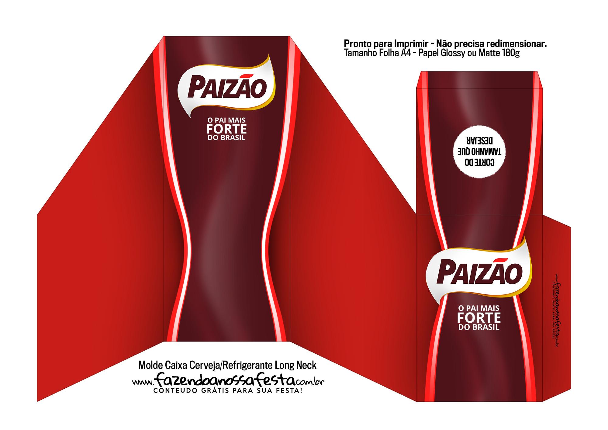 Caixa Cerveja Refrigerante Long Neck para Dia dos Pais Cafe Paizão 2
