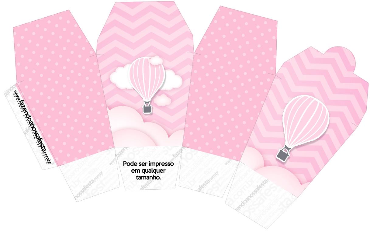 Caixa China in Box Balão de Ar Quente Rosa