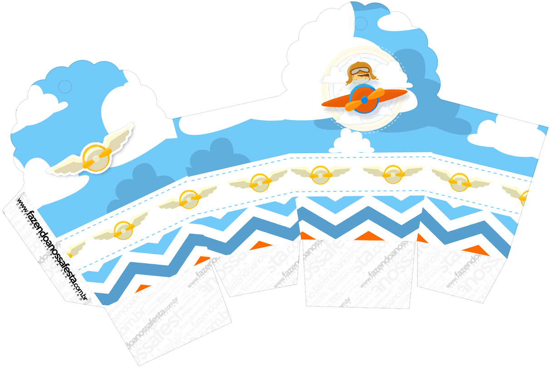 Caixa Cupcake Menino Aviador
