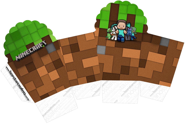 Caixa Cupcake Minecraft