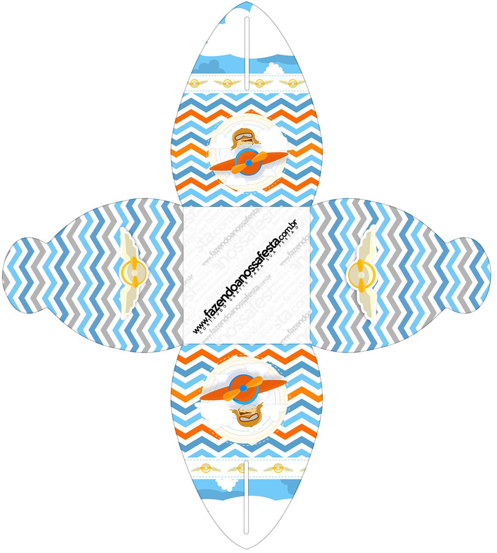 Caixa Menino Aviador Kit Festa
