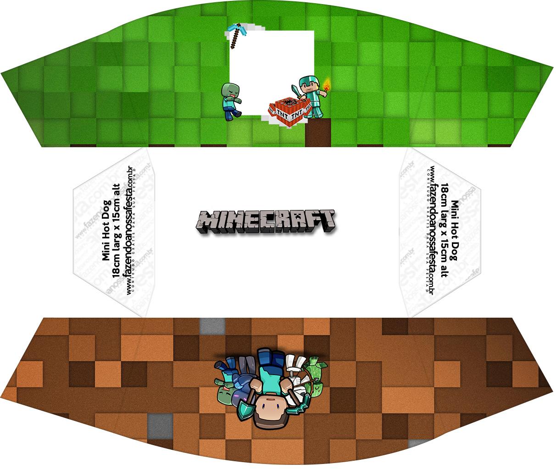 Caixa Mini Cachorro quente Minecraft