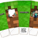 Caixa Pipoca Minecraft