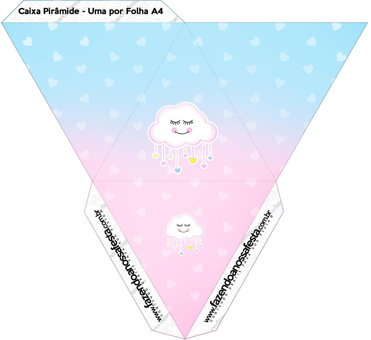 Caixa Piramide Chuva de Amor
