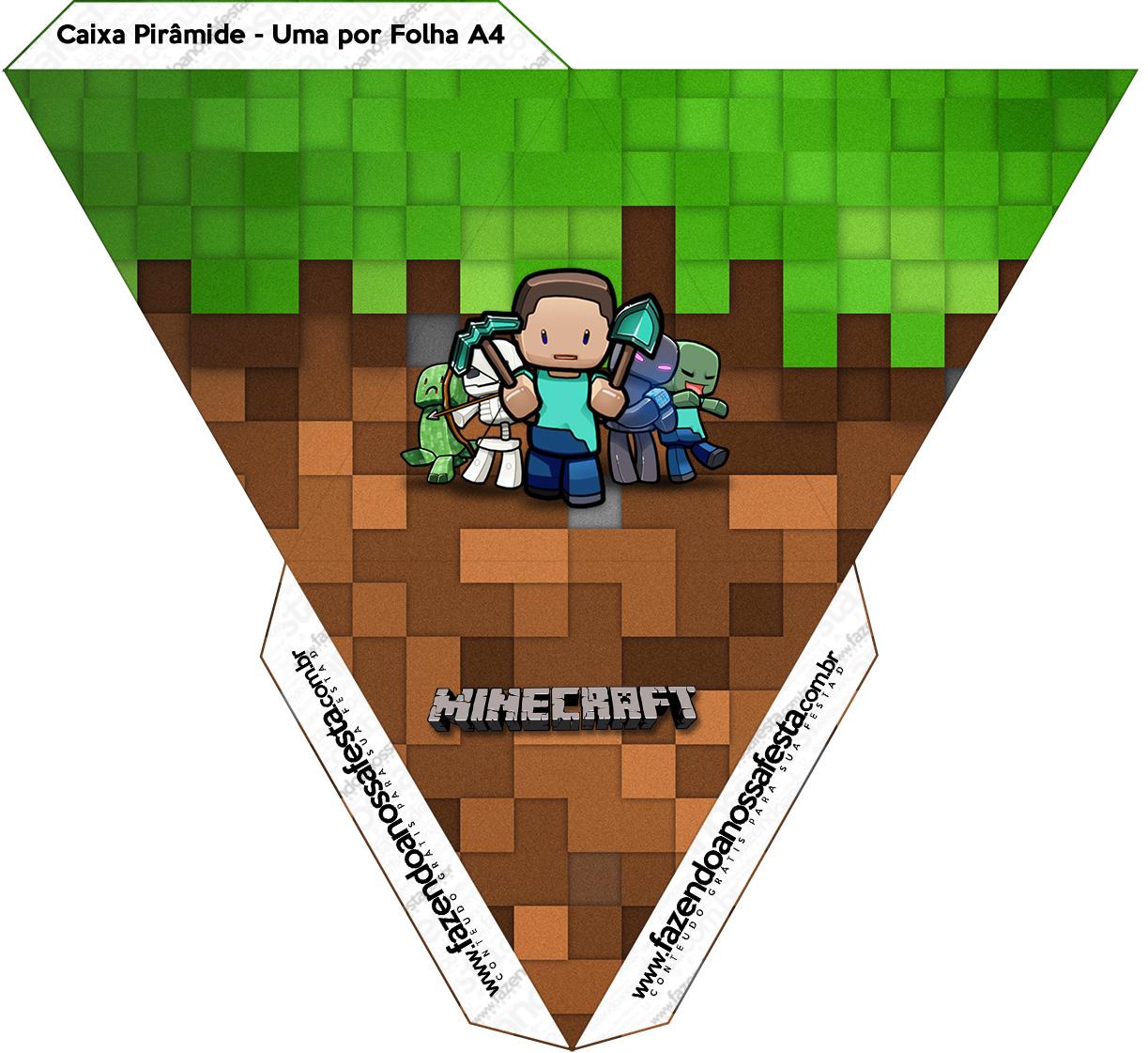 Caixa Piramide Minecraft