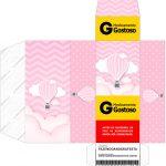 Caixa Remedio Balão de Ar Quente Rosa