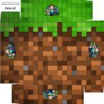 Caixa bombom Fundo Minecraft