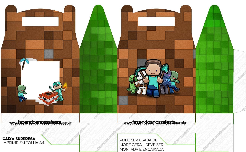 Caixa bombom Minecraft