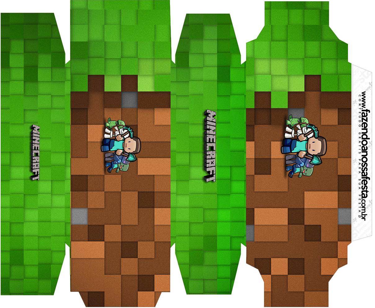 Caixa sabonete Minecraft