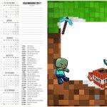 Calendario 2017 2 Minecraft
