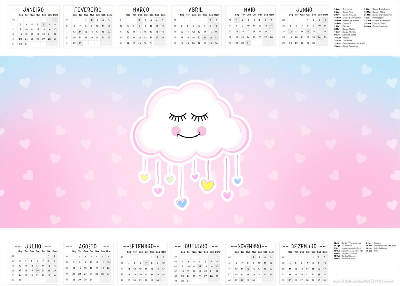 Calendario 2017 Chuva de Amor