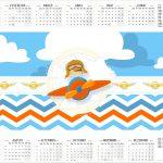 Calendário 2017 Menino Aviador